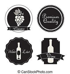etiquetas, vino