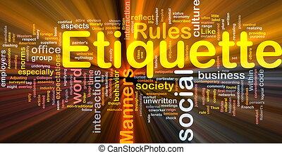 Etiquette background concept glowing - Background concept...