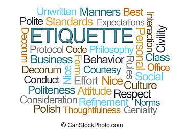 Etiquette Word Cloud