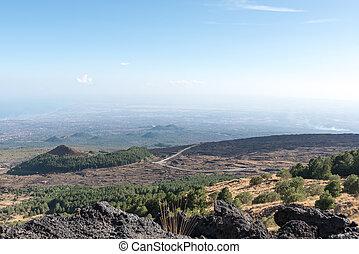 Etna landscape Catania Sicily Italy