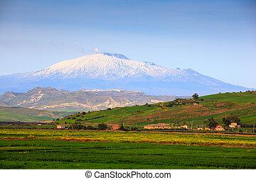 Etna, volcan