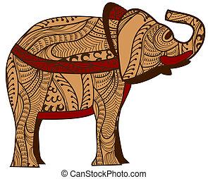 etnico, elefante