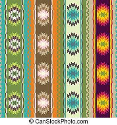 etnisk, abstrakt, mönster