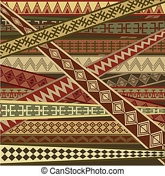 etnisk, abstrakt, struktur