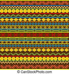 etnisk, afrikansk, mönster, med, flerfärgad, motiv