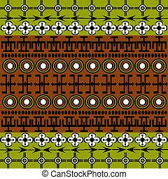 etnisk, afrikansk, symboler, bakgrund, med, grön, och, brun
