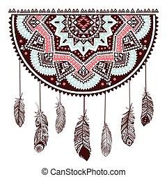 etnisk, amerikansk indian, dröm stoppare