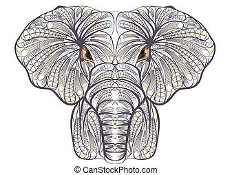 etnisk, elefant
