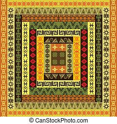 etnisk, färgad, struktur