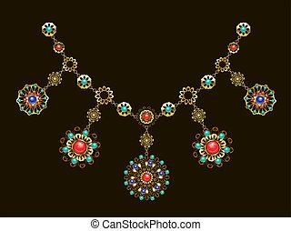 etnisk, halsband