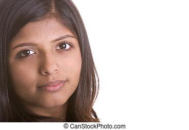 etnisk, kvinna