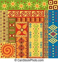 etnisk, mönster