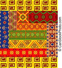 etnisk, mönster, och, agremanger