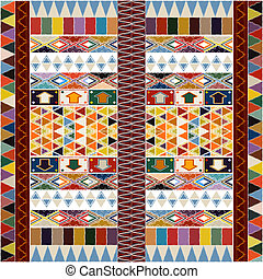 etnisk, matta, design