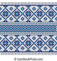 etnisk, prydnad, seamless, mönster