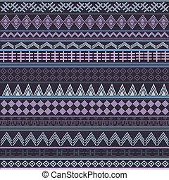 etnisk, purpur, struktur