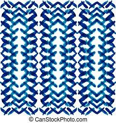 etnisk, stam, hand, oavgjord, vattenfärg, seamless, mönster