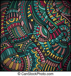 etnisk, vektor, mönster