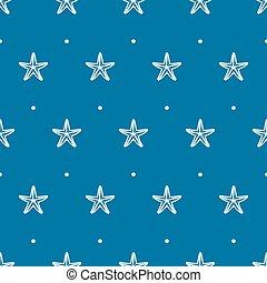 etoile mer bleue, modèle, seamless, vecteur, mer