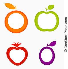 etykiety, owoc