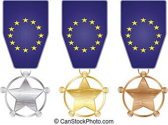eu, メダル