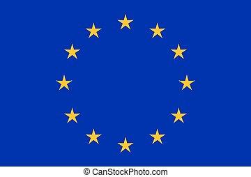 eu, 旗, クローズアップ