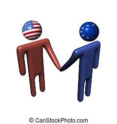 eu, amerikaan, vergadering