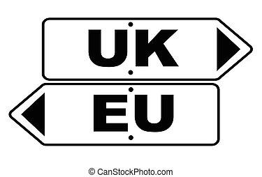 EU And UK Arrow Sign