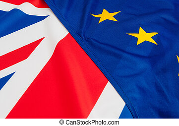 EU and UK Flags - Flags of the European Union and United ...
