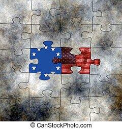 EU and USA puzzles