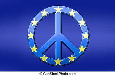 eu, bandiera, simbolo pace