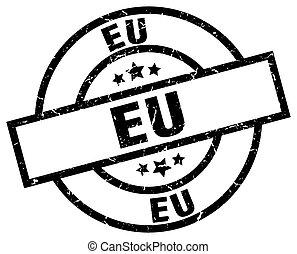 eu black round grunge stamp
