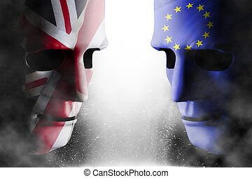 eu, brexit, głowa, uk, twarze