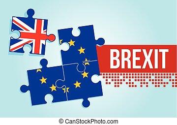 eu british referendum europe union exit britain break vector...