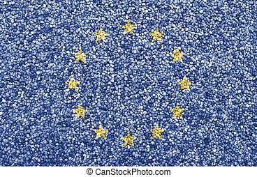 eu, couleurs, gentil, drapeau, textured