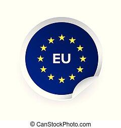 EU - European union logo sticker vector
