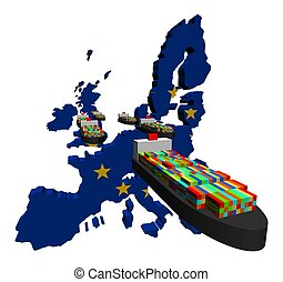 eu, exportation, navires porte-conteneurs