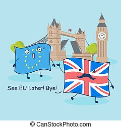 EU flag and British flag