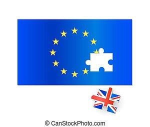 EU Flag Brexit Jigsaw