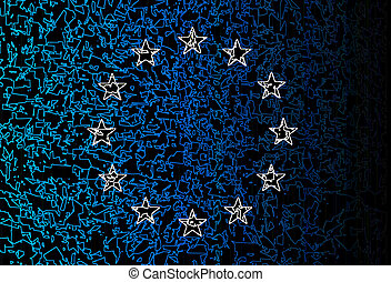 EU Flag Grunge