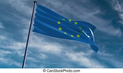 EU Flag, HQ animated, neutral