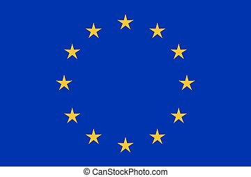 EU flag in closeup
