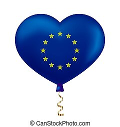 EU flag in heart shape.