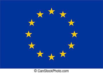EU flag isolated vector illustration