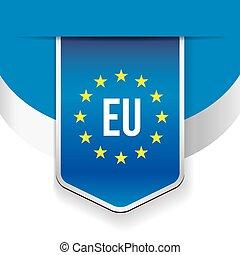 EU flag ribbon vector