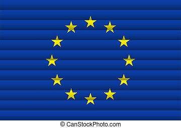 EU flag. Vector Illustration.