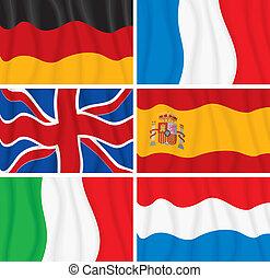 eu, flaggen