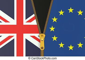 eu, grande, concetto, brexit, referendum, gran bretagna