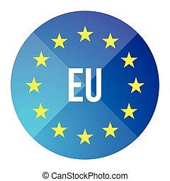 Eu logo - European union button vector