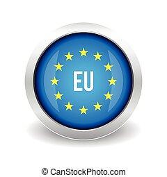 EU logo. European union button vector